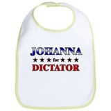JOHANNA for dictator Bib