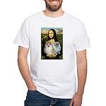 Mona/2 Pomeranians White T-Shirt