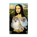 Mona/2 Pomeranians Sticker (Rectangle)
