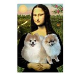 Mona/2 Pomeranians Postcards (Package of 8)