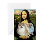Mona/2 Pomeranians Greeting Cards (Pk of 20)
