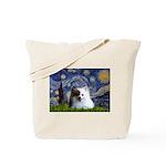 Starry/Pomeranian(r&w) Tote Bag