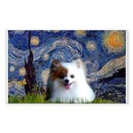 Starry/Pomeranian(r&w) Sticker (Rectangle)