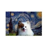 Starry/Pomeranian(r&w) Rectangle Magnet (10 pack)