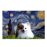 Starry/Pomeranian(r&w) Postcards (Package of 8)