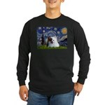 Starry/Pomeranian(r&w) Long Sleeve Dark T-Shirt