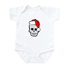 Christmas Santa Skull Infant Bodysuit