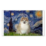 Starry / Pomeranian Sticker (Rectangle)