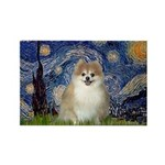 Starry / Pomeranian Rectangle Magnet