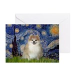 Starry / Pomeranian Greeting Cards (Pk of 20)