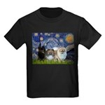 Starry/3 Pomeranians Kids Dark T-Shirt