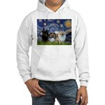 Starry/3 Pomeranians Hooded Sweatshirt