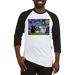 Starry/3 Pomeranians Baseball Jersey