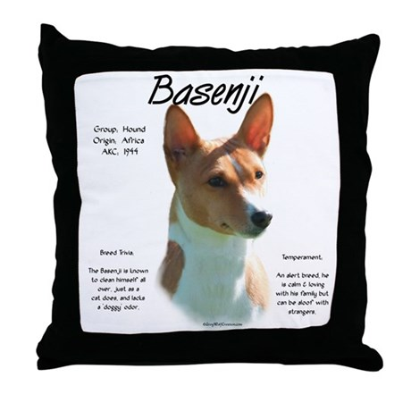 Basenji (chestnut) Throw Pillow