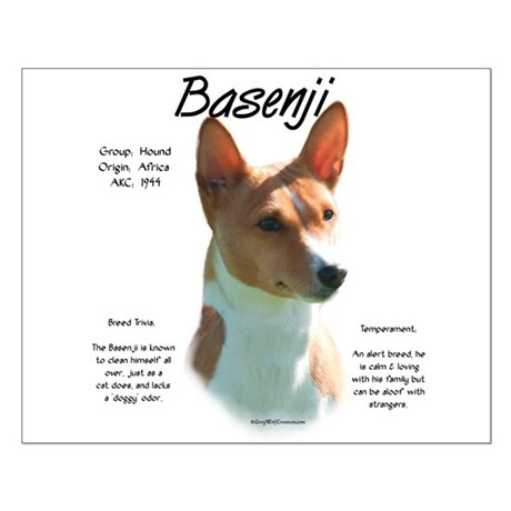 Basenji (chestnut) Small Poster