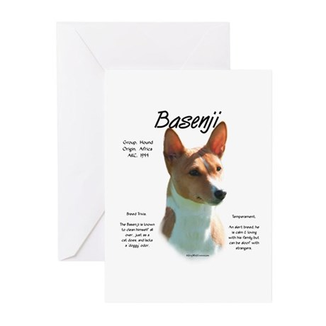 Basenji (chestnut) Greeting Cards (Pk of 10)