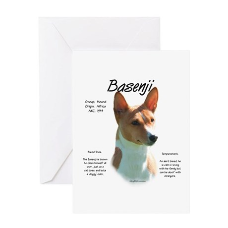 Basenji (chestnut) Greeting Card