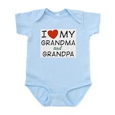 I Love My Grandma and Grandpa Onesie