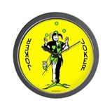 "Yellow ""Joker"" Wall Clock"