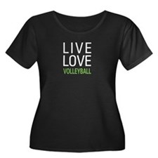 Live Love Volleyball Women's Plus Size Scoop Neck