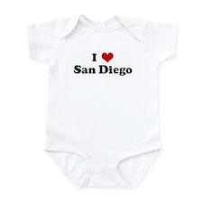 I Love San Diego Infant Bodysuit