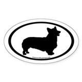 Pembroke Welsh Corgi (inner border) Oval Decal
