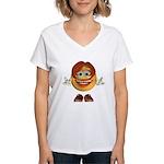 ASL Girl Women's V-Neck T-Shirt