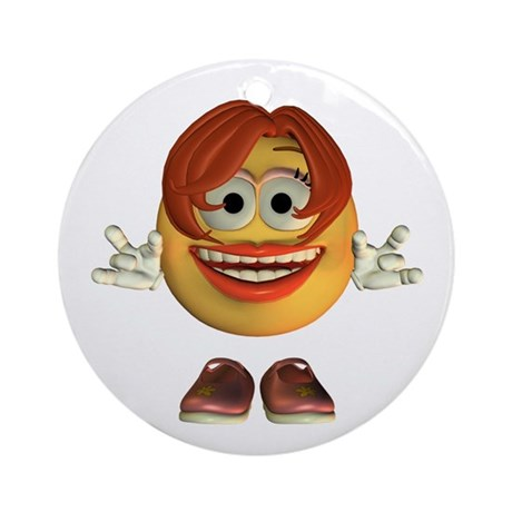 ASL Girl Ornament (Round)