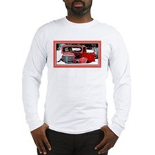 Keeshond - Old Car Christmas Long Sleeve T-Shirt