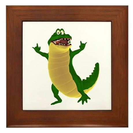 Crawley Croc Framed Tile