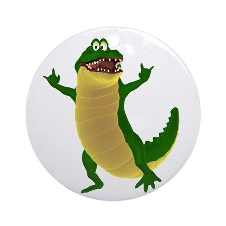 Crawley Croc Ornament (Round)