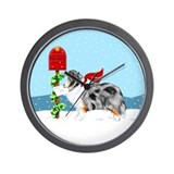 Blue Merle Sheltie Mail Wall Clock