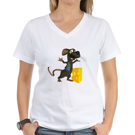 Rattachewie Women's V-Neck T-Shirt