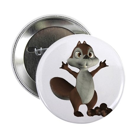 "Nickie Squirrel 2.25"" Button"