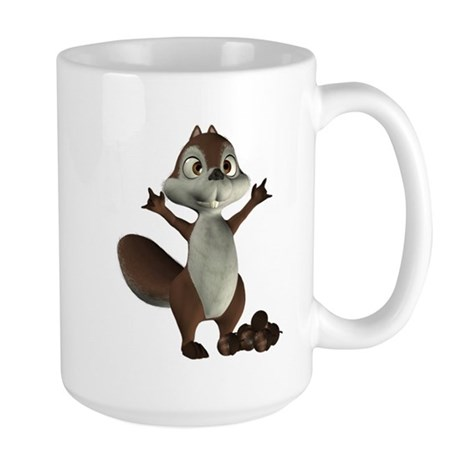 Nickie Squirrel Large Mug