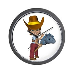Cowgirl Kit Wall Clock