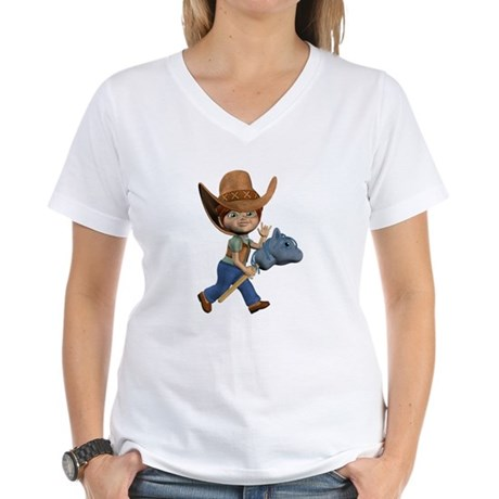 Cowboy Kevin Women's V-Neck T-Shirt