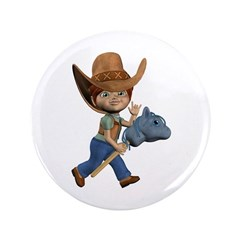 "Cowboy Kevin 3.5"" Button"