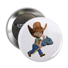 "Cowboy Kevin 2.25"" Button"