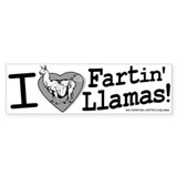 Fartin' Llamas Bumper Bumper Sticker