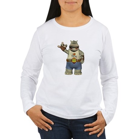 Heath Hippo Women's Long Sleeve T-Shirt