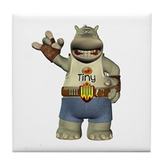 Heath Hippo Tile Coaster