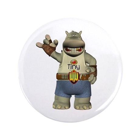 "Heath Hippo 3.5"" Button"