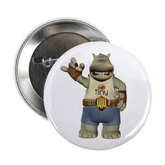 "Heath Hippo 2.25"" Button"