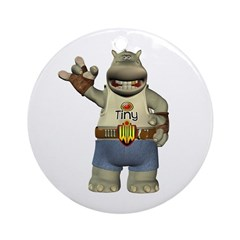 Heath Hippo Ornament (Round)