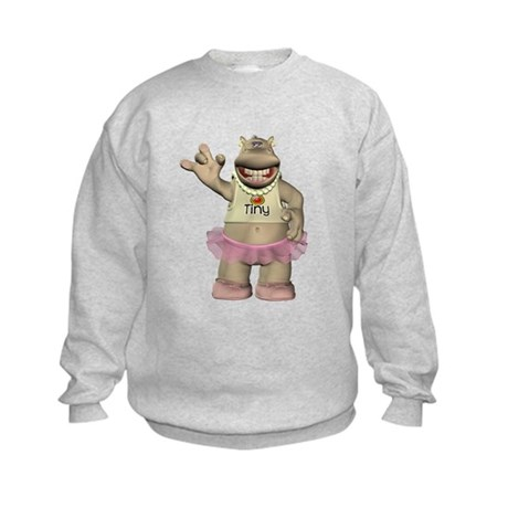 Heather Hippo Kids Sweatshirt