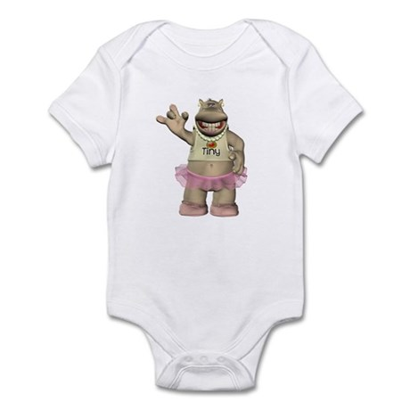 Heather Hippo Infant Bodysuit