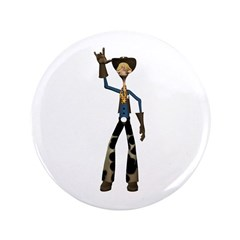 "Hay Billy 3.5"" Button"