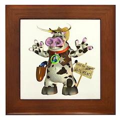 Billy Bull Framed Tile
