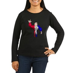 Alpha Man Women's Long Sleeve Dark T-Shirt
